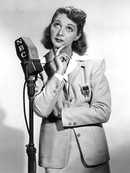 Mary Livingstone on the Jack Benny Show